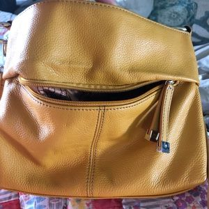 Tignanello Crossbody in a nice mustard color